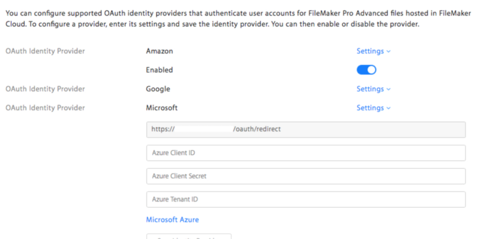 Azure AD (Active Directory) Authentication with FileMaker