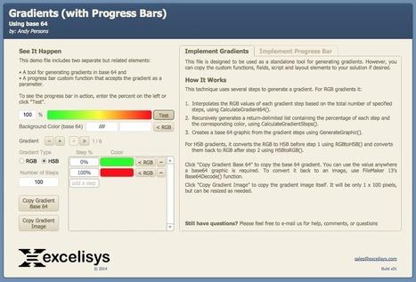 FileMaker Pro Progress Bar - Gradients - Brilliant Scoops