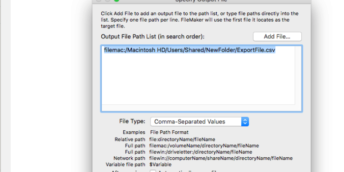 Create Directories Via Script Step With FileMaker 17 - Brilliant Scoops